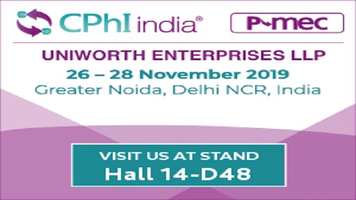 CPHI India 2019 – Hall 14-D48
